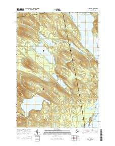 Duck Lake Maine Current topographic map, 1:24000 scale, 7.5 X 7.5 Minute, Year 2014