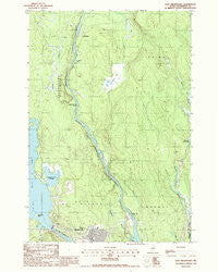 East Millinocket Maine Historical topographic map, 1:24000 scale, 7.5 X 7.5 Minute, Year 1988