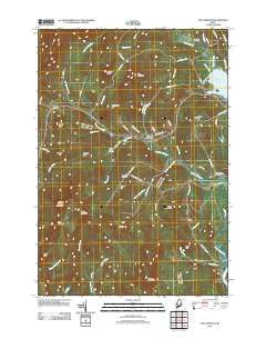 East Dixfield Maine Historical topographic map, 1:24000 scale, 7.5 X 7.5 Minute, Year 2011