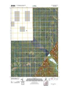 East Lake Maine Historical topographic map, 1:24000 scale, 7.5 X 7.5 Minute, Year 2011