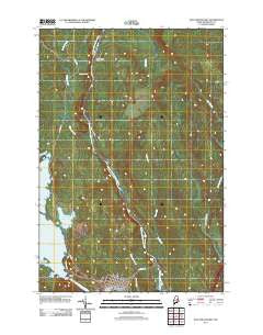 East Millinocket Maine Historical topographic map, 1:24000 scale, 7.5 X 7.5 Minute, Year 2011