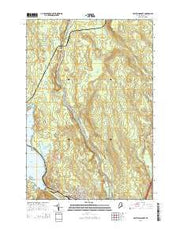 East Millinocket Maine Current topographic map, 1:24000 scale, 7.5 X 7.5 Minute, Year 2014 from Maine Maps Store