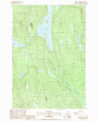 Endless Lake Maine Historical topographic map, 1:24000 scale, 7.5 X 7.5 Minute, Year 1988