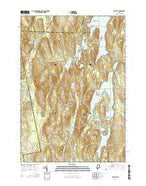 Fayette Maine Current topographic map, 1:24000 scale, 7.5 X 7.5 Minute, Year 2014 from Maine Map Store