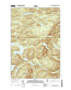 Fifth Musquacook Lake Maine Current topographic map, 1:24000 scale, 7.5 X 7.5 Minute, Year 2014 from Maine Map Store