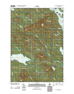 Fletcher Peak Maine Historical topographic map, 1:24000 scale, 7.5 X 7.5 Minute, Year 2011