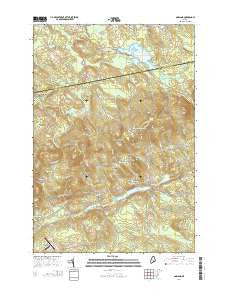 Garland Maine Current topographic map, 1:24000 scale, 7.5 X 7.5 Minute, Year 2014