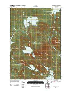 Gassabias Lake Maine Historical topographic map, 1:24000 scale, 7.5 X 7.5 Minute, Year 2011