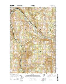 Goodwin Maine Current topographic map, 1:24000 scale, 7.5 X 7.5 Minute, Year 2014