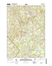 Gorham Maine Current topographic map, 1:24000 scale, 7.5 X 7.5 Minute, Year 2014 from Maine Maps Store