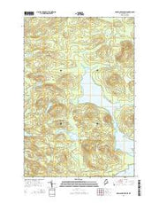 Grand Lake Seboeis Maine Current topographic map, 1:24000 scale, 7.5 X 7.5 Minute, Year 2014 from Maine Maps Store