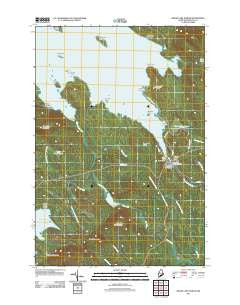Grand Lake Stream Maine Historical topographic map, 1:24000 scale, 7.5 X 7.5 Minute, Year 2011