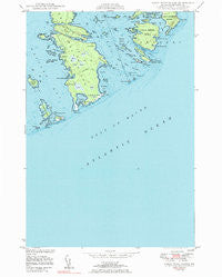 Great Wass Island Maine Historical topographic map, 1:24000 scale, 7.5 X 7.5 Minute, Year 1950
