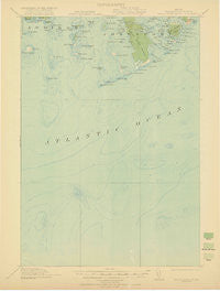Great Wass Island Maine Historical topographic map, 1:62500 scale, 15 X 15 Minute, Year 1921