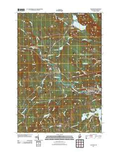Guilford Maine Historical topographic map, 1:24000 scale, 7.5 X 7.5 Minute, Year 2011