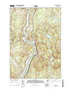Hampden Maine Current topographic map, 1:24000 scale, 7.5 X 7.5 Minute, Year 2014 from Maine Map Store