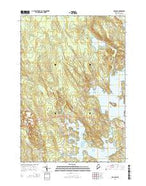 Hancock Maine Current topographic map, 1:24000 scale, 7.5 X 7.5 Minute, Year 2014 from Maine Map Store