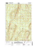 Hanford Maine Current topographic map, 1:24000 scale, 7.5 X 7.5 Minute, Year 2014 from Maine Map Store