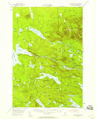 Harrington Lake Maine Historical topographic map, 1:62500 scale, 15 X 15 Minute, Year 1954