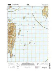 Isle Au Haut East Maine Current topographic map, 1:24000 scale, 7.5 X 7.5 Minute, Year 2014 from Maine Maps Store