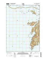 Isle Au Haut West Maine Current topographic map, 1:24000 scale, 7.5 X 7.5 Minute, Year 2014 from Maine Maps Store