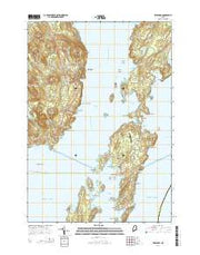 Islesboro Maine Current topographic map, 1:24000 scale, 7.5 X 7.5 Minute, Year 2014 from Maine Maps Store