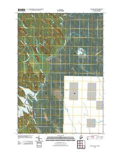 Kelleyland Maine Historical topographic map, 1:24000 scale, 7.5 X 7.5 Minute, Year 2011