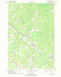 Kenduskeag Maine Historical topographic map, 1:24000 scale, 7.5 X 7.5 Minute, Year 1977