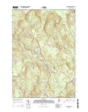Kenduskeag Maine Current topographic map, 1:24000 scale, 7.5 X 7.5 Minute, Year 2014 from Maine Maps Store