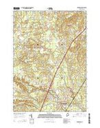 Kennebunk Maine Current topographic map, 1:24000 scale, 7.5 X 7.5 Minute, Year 2014 from Maine Map Store