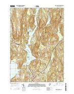 Lake Auburn East Maine Current topographic map, 1:24000 scale, 7.5 X 7.5 Minute, Year 2014 from Maine Map Store