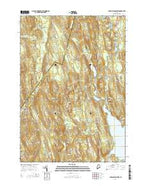 Lake Auburn West Maine Current topographic map, 1:24000 scale, 7.5 X 7.5 Minute, Year 2014 from Maine Map Store