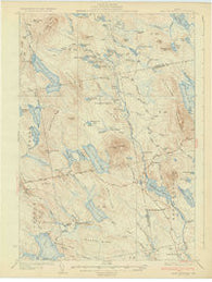 Lead Mtn Maine Historical topographic map, 1:62500 scale, 15 X 15 Minute, Year 1932