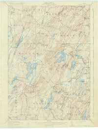 Liberty Maine Historical topographic map, 1:62500 scale, 15 X 15 Minute, Year 1916
