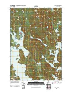 Long Lake Maine Historical topographic map, 1:24000 scale, 7.5 X 7.5 Minute, Year 2011
