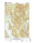 Long Lake Maine Current topographic map, 1:24000 scale, 7.5 X 7.5 Minute, Year 2014 from Maine Map Store