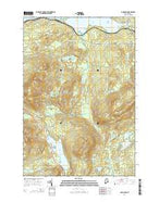 Long Pond Maine Current topographic map, 1:24000 scale, 7.5 X 7.5 Minute, Year 2014 from Maine Map Store