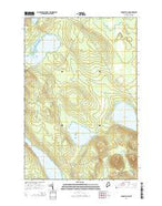 Longley Pond Maine Current topographic map, 1:24000 scale, 7.5 X 7.5 Minute, Year 2014 from Maine Map Store