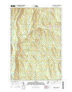Lookout Mountain Maine Current topographic map, 1:24000 scale, 7.5 X 7.5 Minute, Year 2014 from Maine Map Store