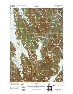 Mechanic Falls Maine Historical topographic map, 1:24000 scale, 7.5 X 7.5 Minute, Year 2011
