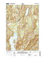 Monmouth Maine Current topographic map, 1:24000 scale, 7.5 X 7.5 Minute, Year 2014 from Maine Map Store