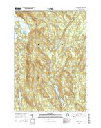Monroe Lake Maine Current topographic map, 1:24000 scale, 7.5 X 7.5 Minute, Year 2014 from Maine Map Store