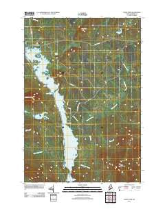 Moxie Pond Maine Historical topographic map, 1:24000 scale, 7.5 X 7.5 Minute, Year 2011