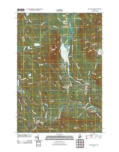 New Portland Maine Historical topographic map, 1:24000 scale, 7.5 X 7.5 Minute, Year 2011