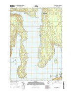 Newbury Neck Maine Current topographic map, 1:24000 scale, 7.5 X 7.5 Minute, Year 2014 from Maine Map Store
