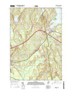 Newport Maine Current topographic map, 1:24000 scale, 7.5 X 7.5 Minute, Year 2014 from Maine Map Store