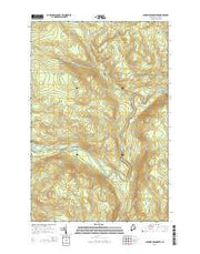 Ninemile Deadwater Maine Current topographic map, 1:24000 scale, 7.5 X 7.5 Minute, Year 2014 from Maine Maps Store
