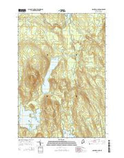 Nollesemic Lake Maine Current topographic map, 1:24000 scale, 7.5 X 7.5 Minute, Year 2014 from Maine Maps Store