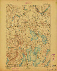 Norridgewock Maine Historical topographic map, 1:62500 scale, 15 X 15 Minute, Year 1894