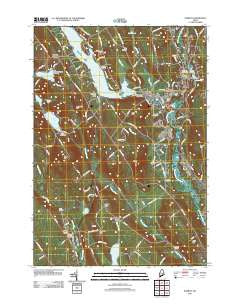Norway Maine Historical topographic map, 1:24000 scale, 7.5 X 7.5 Minute, Year 2011